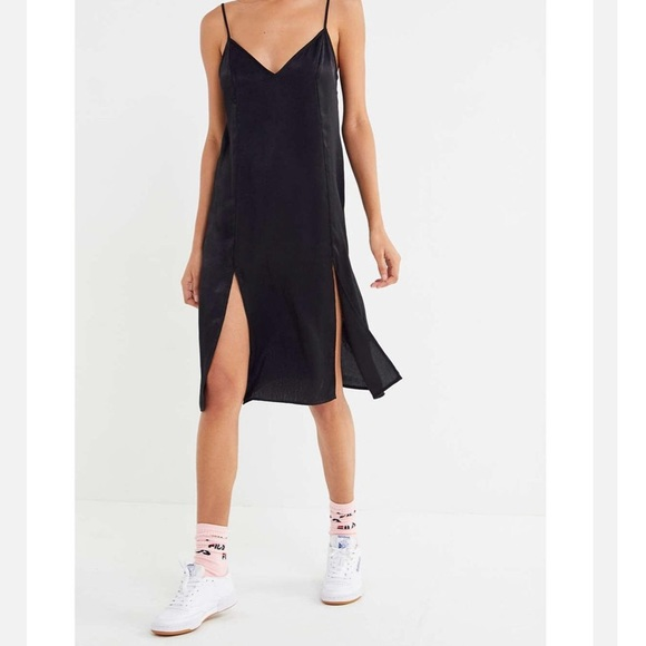 464c8bc79d35 Out From Under Justine Satin Front-Slit Slip Dress.  M_5c69e5525c44525ee97017ca